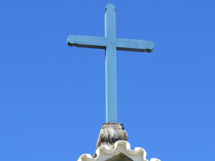 Religion Crucifix Blue Spirituality No People Close-up Clear Sky Day Sky Travel Destinations Traveling Travel Photography Tranquility Minas Gerais Lavras Novas MG :-) The Week On EyeEm