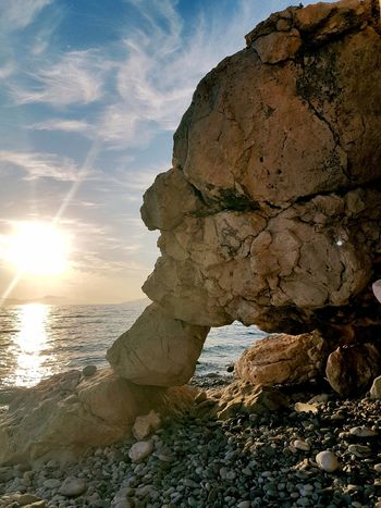 EyeEmNewHere The Rock Sunset Elephant Illusion In Love With Sea Samos Island, Greece