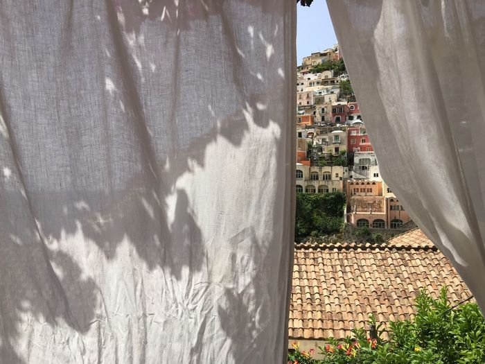 Positano Seen From White Curtain