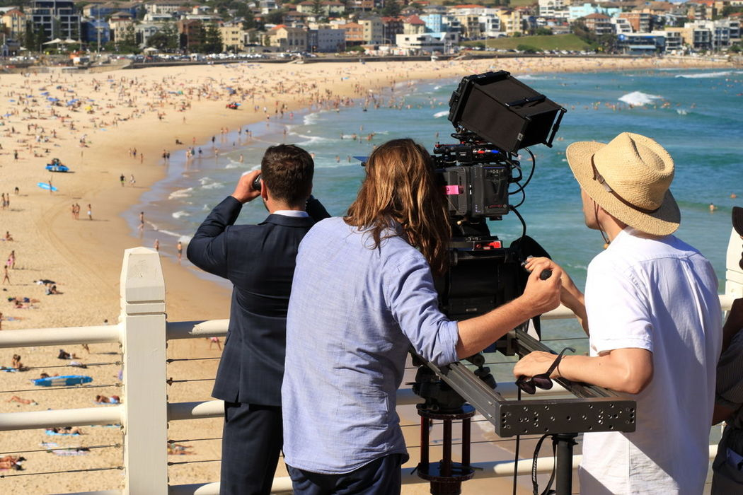 Surf's Up Bondi Beach Australia Sydney Filming Documentary MOVIE Beach Cinema In Your Life Surfing CameraMan Camera Life Is A Beach Lifestyles Action