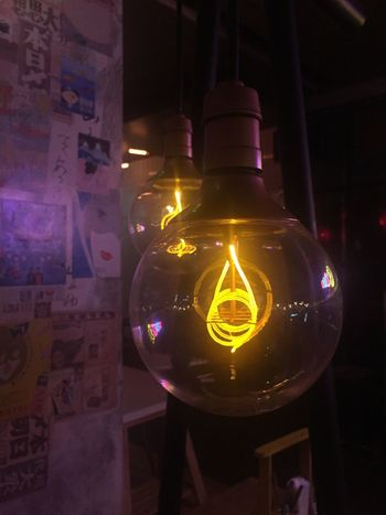 Illuminated Night Lighting Equipment Indoors  Hanging Close-up No People