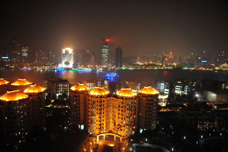 Cities At Night Glowing River Shanghai, China Urban Skyline 43 Golden Moments