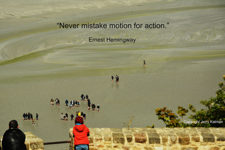 It's #ErnestHemngway's birthday and we have a whimsical quote of his with a scene of tourists walking across the tideflats around #MontStMichel along the #Normandy coast in western #France. If this #quotograph resonates with you feel free to #repost for others to enjoy. Ernest Hemingway Mont St. Michel Tourists Fragility Quotograph Tide Flats Tours