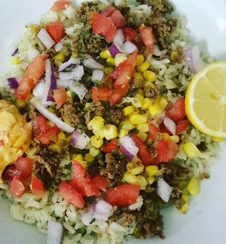 Fiesta Rice Bowl Ricebowl Vegan GoVegan Veganfoodshare Veganfoodporn Vegansofig Vegancommunity Plantbased Eatyourcolors Whatveganseat Fitspiration Herbivore Blackvegans Eatclean