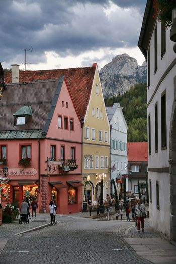 GERMANY🇩🇪DEUTSCHERLAND@ Bayern Germany Bavaria Füssen, Bayern, Deutschland Buildings Colours Architecture Street Camper Life