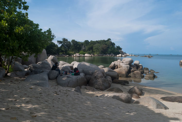 Let's vacation in Bintan island Beach Beauty In Nature Bintan  Bintan Island Bintanisland Blue Blue Sky Day Daylight Landscape Let's Vacation In Bintan Island Rock - Object Scenics Sea Sky Tranquil Scene Tranquility Travel Travel Destinations Trikorabeach Vacation Vacations Water