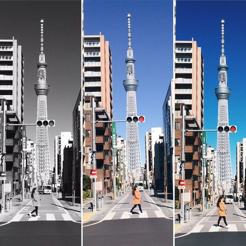 Battle Of The Cities Hello Tokyo🇯🇵 Travel Tokyo Sky Tree View Street Chill Mode Steps Nice Place Clear Sky Winter 2016 Winter In Tokyo January2016 This place has a nice background for take a shot. blue sky and Tokyo Sky Tree. 😍