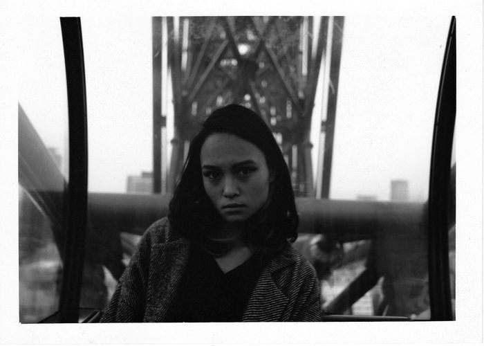 The eye is the window of the mind. Asian  Black And White Canon City EyeEm Portraits Eyes Ferris Wheel Film Photography Fujifilm Japan Photography Monochrome One Person Real People Sitting The Eye Is The Window Of The Mind Young Women Analogue Photography 35mm