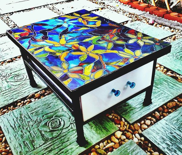Cute DIY Coffee Table With Drawer For cups and glasses Bangkok