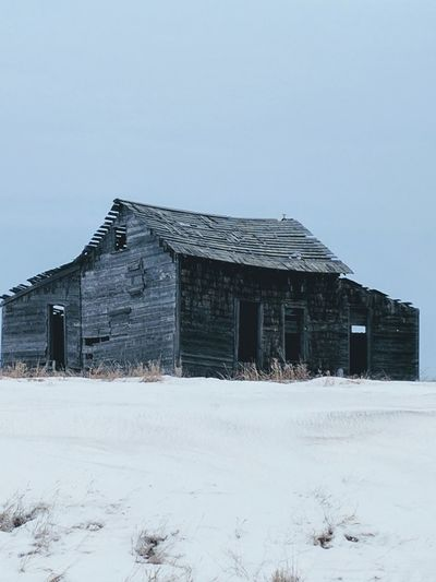 Winter, Barnstorming Abandoned Places Barn RusticNature Rural Landscape Decaying Beauty Snow Day Snow Built Structure Cold Temperature Winter No People Architecture Agricultural Building Abandoned Building Exterior Outdoors Extreme Weather Day Sky
