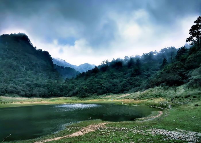 Mountain Landscape Lake Pinaceae Nature Scenics Forest Tree Water Mountain Range No People Outdoors Beauty In Nature Reflection Tranquility Tranquil Scene Pine Tree Travel Destinations Mountain Peak Fog