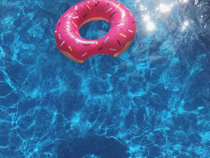 Swimming Pool Inflatable Ring Water Safety Inflatable  Floating On Water Protection Day Red Outdoors Nature No People