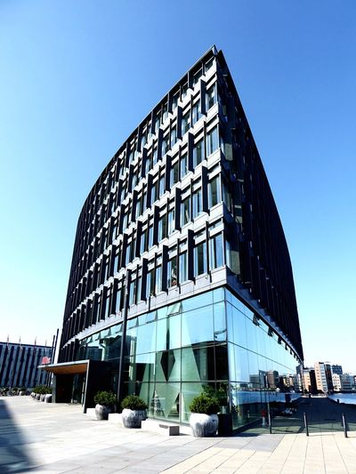 Denmark 🇩🇰🇩🇰🇩🇰 Wonderful Copenhagen Carlsberg Byen New Carlsberg City Architecture Built Structure Building Exterior Modern Clear Sky Day Outdoors Blue Sky No People Modern Architecture Sunlight Blue Sky Metal And Glass Architecture ALLER BUILDING Building Of Danish Magasin Journalistic