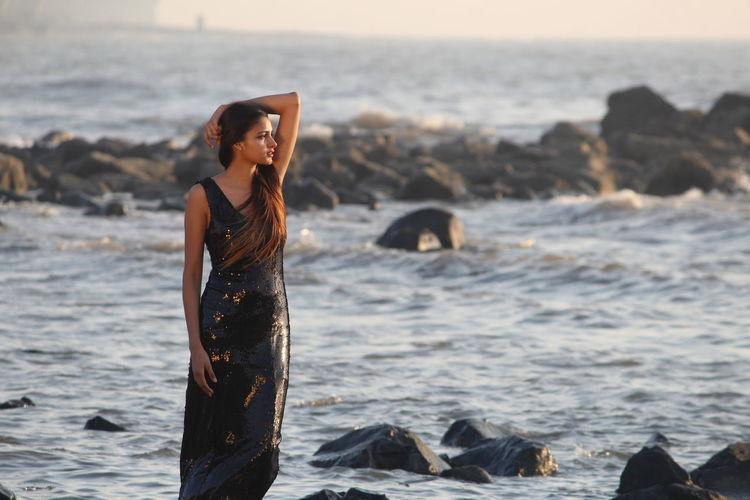 International Women's Day 2019 Water Wave Sea Full Length Beach Standing Women Young Women Portrait Sky