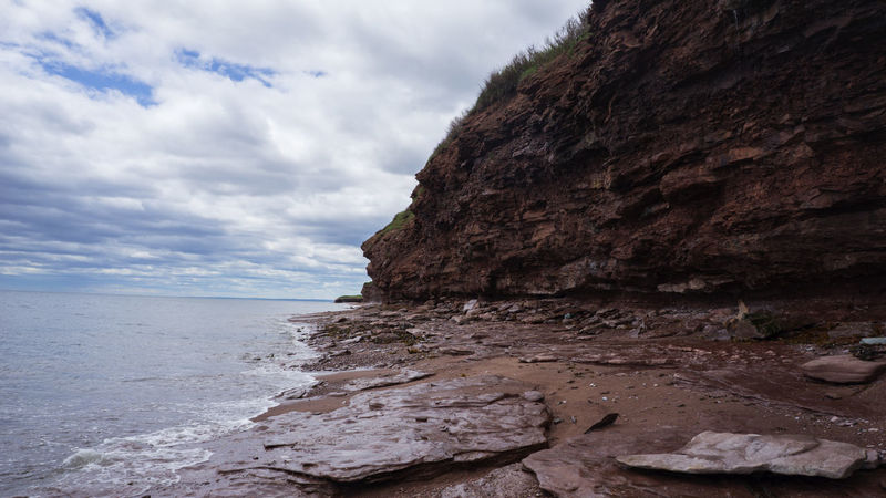 Beach Beauty In Nature Day Gaspesie Nature No People Outdoors Red Sand Rocks And Water Sea Tranquil Scene Tranquility Travel Destinations Traveling