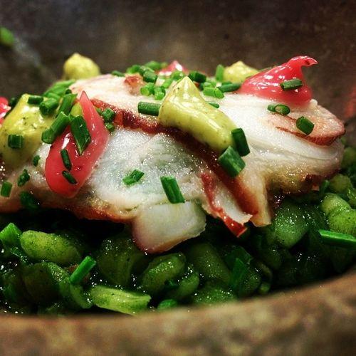 Arroz de plancton y pulpo en La Salita en Valencia! / Plankton ja mustekala riisiä Valencian ravintola La Salitassa. Riisi Aitoespanja Ruoka Food healthyfood arroz Valencia