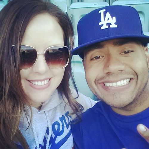 Got my Dodgergirl by my side Dodgers