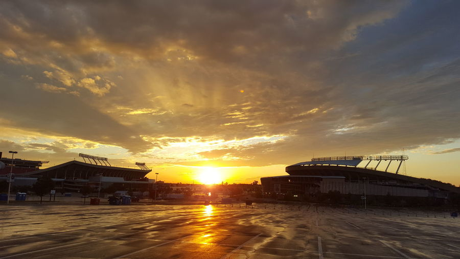Kauffman Stadium Cloud - Sky Sunset Dramatic Sky Sun Sky No People Nature Outdoors Beauty In Nature