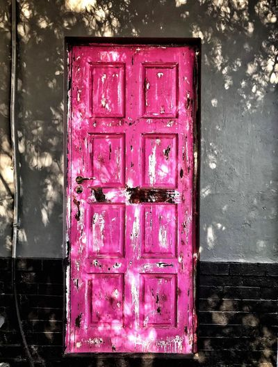 P i n k D o o r s Opening Doors To New Adventures Vintage Pink Door Doors Doors With Stories Street Photography Happiness New Findings Shadows Pink Color Wall - Building Feature Architecture Door Entrance Old