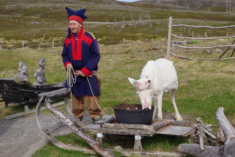 A Sami man and