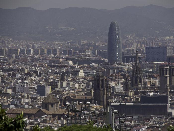 Barcelona at the mediterranean sea