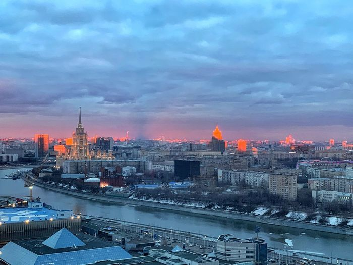 Good night 🌇 IPhoneography Cityscape Moscow City Moscow River Sunset Collection Sunset Fire  Fire Sunset City Building Exterior Architecture Built Structure Building Sky Cityscape Cloud - Sky Illuminated Skyscraper Office Building Exterior Dusk Urban Skyline No People Nature Sunset Night Residential District Landscape Outdoors