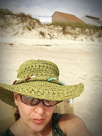"""Self Portrait Around The World Eccentric Soul wearing my favorite Hat at Oak Island, NC during """"Cousin Weekend"""""""