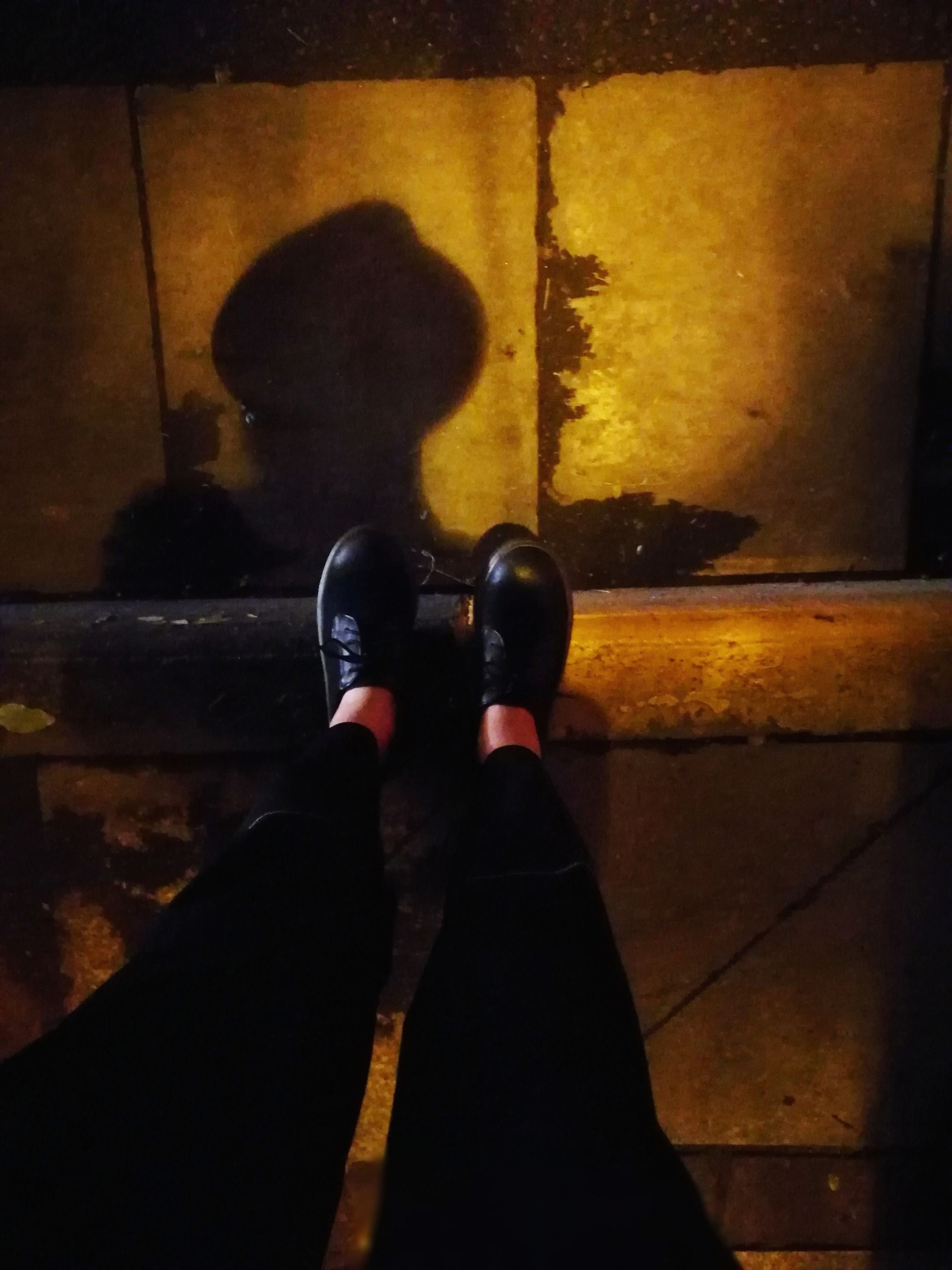 human leg, low section, shoe, one person, human foot, human body part, real people, indoors, night, close-up, people