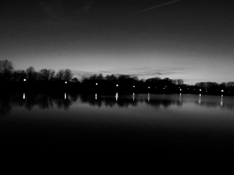 Nikonphotography EyeEm Best Shots - Black + White EyeEm Gallery Consciousness Duality Balance Embodiment Reflection Water Nature Tree Tranquility Sky Beauty In Nature Tranquil Scene Lake No People Scenics Clear Sky Outdoors Night