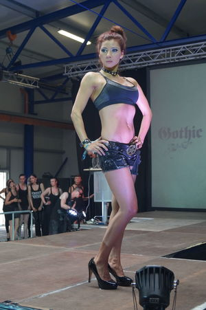 Beautiful Woman Day Fashion Model Fashion Show Goth Gothic Style Indoors  Lifestyles Mera Luna Festival Posing Real People Standing Young Adult Young Women