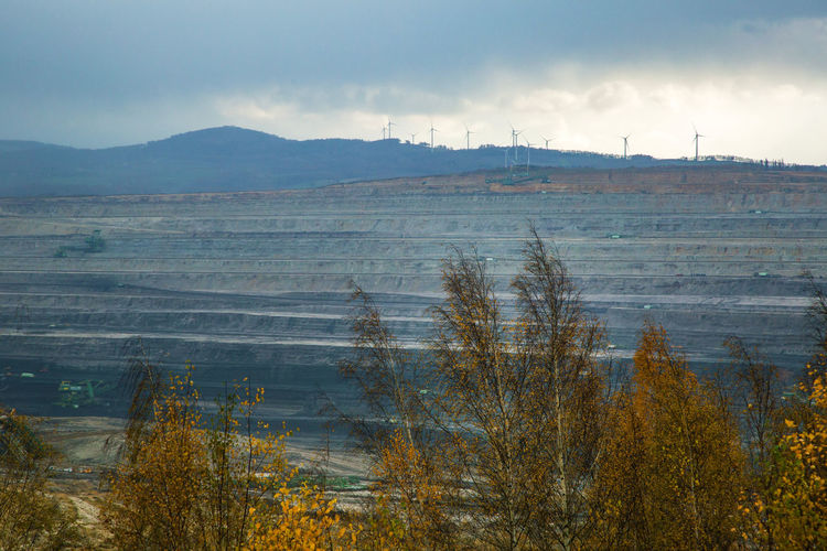 Brown Coal Mine Turów Beauty In Nature Bogatynia Day Landscape Mine Nature No People Outdoors Scenics Sky Tranquil Scene Tranquility Tree