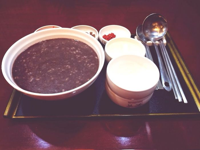Red Bean Soup Red Beans Soup Winter Solstice Koreans eat red bean soup on the winter solstice.