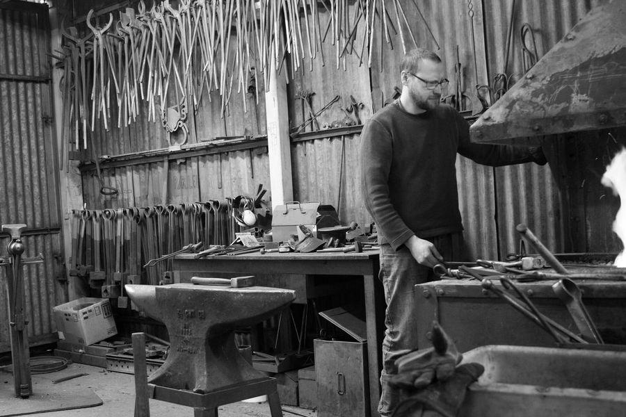 Blacksmiths forge Working One Person Workshop Blacksmith  Blacksmith Shop Forge  Traditional
