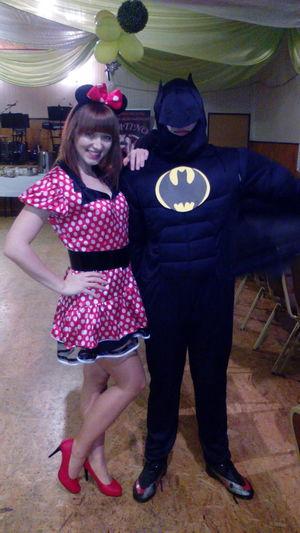 z moim super bohaterem❤❤ Carnaval2015 Minimouse Batman