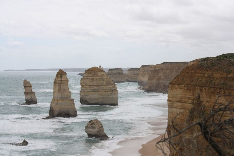 The Twelve Apostles Travel Destinations EyeEm Selects Sea Sky Rock Formation Nature Rock - Object Tranquility Water Scenics Beauty In Nature Horizon Over Water Cliff No People Outdoors Scenery Day
