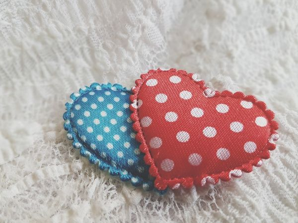 Textile Pattern Spotted Red Dots Hearts Valentine's Day  Love The Week On EyeEm EyeEmNewHere Studio Shot Beautiful Background Background Being In Love I Love You Heart Heart Background Lace - Textile Backgrounds Red Heart Heart Shape Blue Heart Two Hearts Friendship Multi Colored