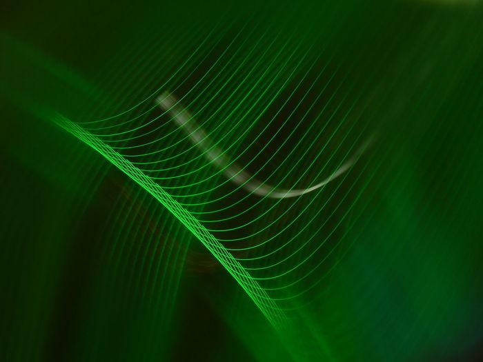 Close-up of green light pattern