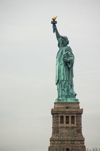 Day Freedom Human Representation New York Outdoors Sculpture Sky Statue Statue Of Liberty