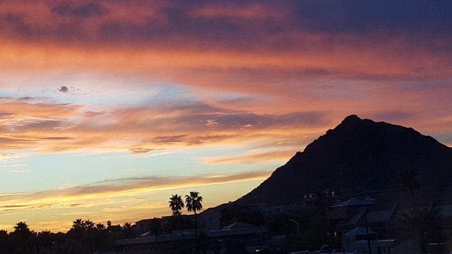 Arizona Sunset Over Camelback Mountain