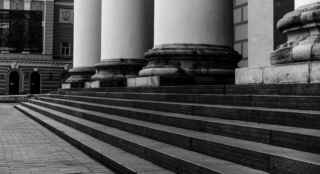 Architectural Column Architecture Building Exterior Built Structure Day No People Outdoors Staircase Steps