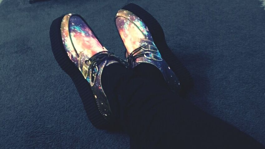 Out of this world. Galaxy Creepers Street Fashion