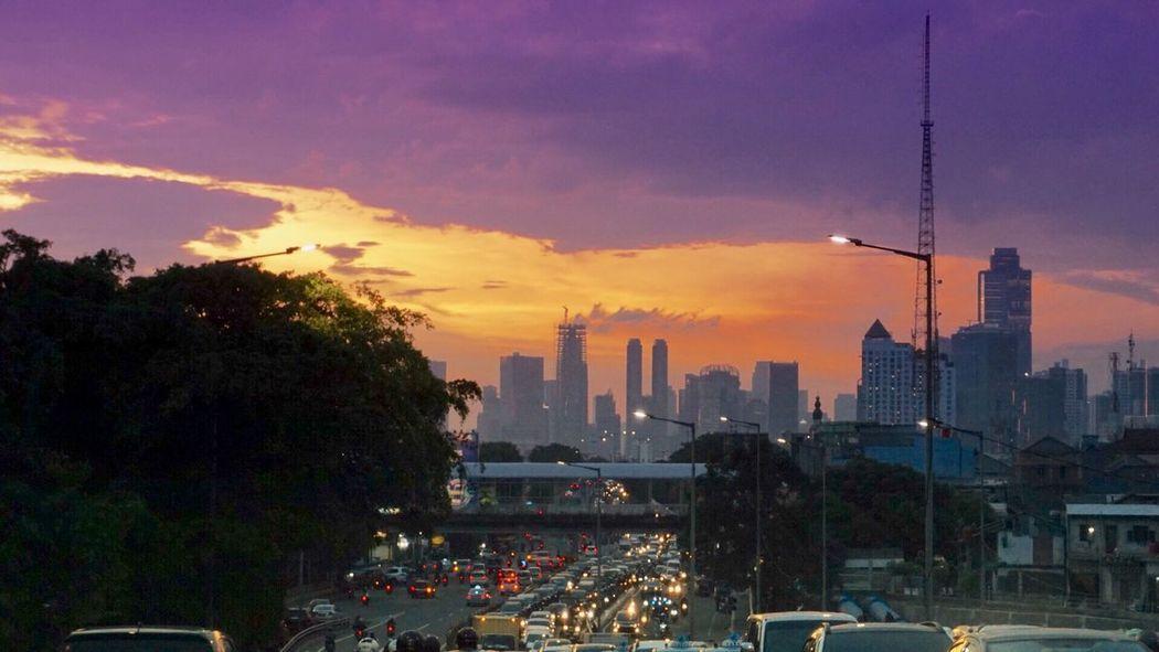 Jakarta is a big city Architecture Skyscraper Building Exterior Built Structure Cityscape