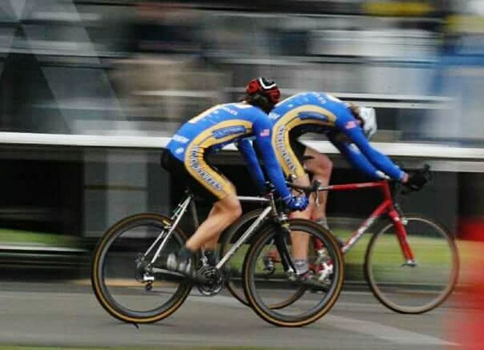 Cyclocross Race Motion Bicycle Cycling Blurred Motion Speed Sport Racing Bicycle Sports Event  Final Sprint Cyclocross