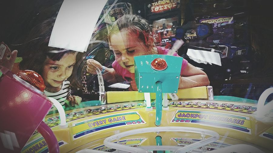 Arcade Arcade Games Having Fun Candid Moments Kids At Play Neon Lights Capture The Moment