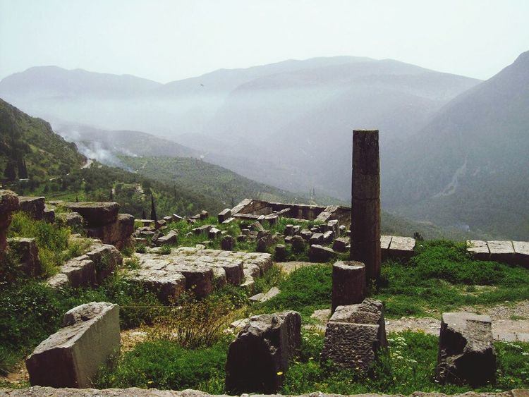 Delfi Greece View Historical Monuments