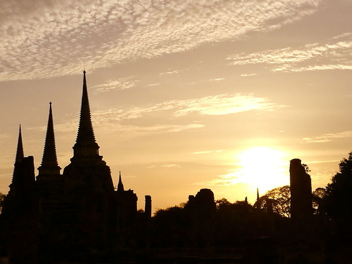 build for destroy Travel Destinations Sunset Religion Architecture Business Finance And Industry Tourism Vacations History Silhouette Travel Spirituality No People Old Ruin Built Structure Outdoors Building Exterior Urban Skyline Nature Ancient Civilization Day Architecture Ayutthaya Ayutthaya Thailand Sky Gold