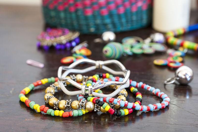 Close-Up Of Multi Colored Bracelets