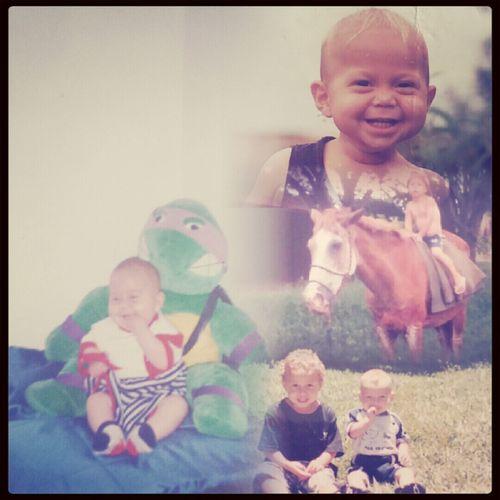 Achei umas fotos minhas aqui em casa de quando eu era bebê :)