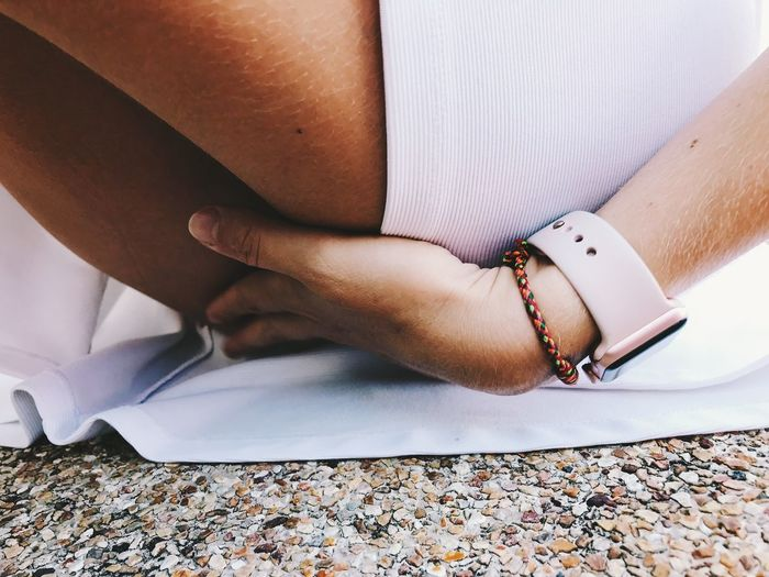 Human Body Part Real People One Person Human Hand Hand Body Part Women Adult Indoors  Lifestyles High Angle View Bracelet Low Section Human Leg Day Publication Book Close-up Fashion Human Limb