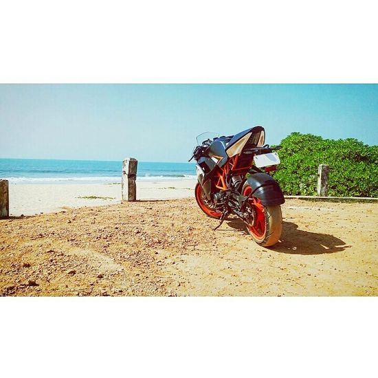 Everything In Its Place Morningride Ktm Ktmrc200 Freshair Bluesky Waves, Ocean, Nature Greenery Peace And Quiet peace ✌